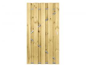 Loopdeur Grenen met frame - Geschaafd - 180x90 cm