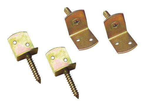 L-Beslag met schroeven - Verzinkt - Set van 4